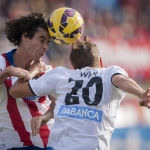Atletico de Madrid defeats Deportivo de La Coruña 2-0 in the Vicente Calderon Stadium